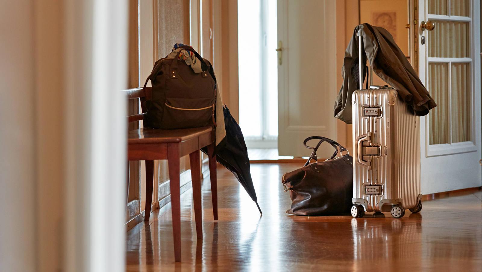 Koffer gepackt für auf Reisen