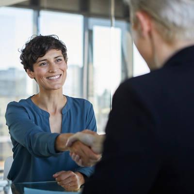 Partner werden - Handschlag