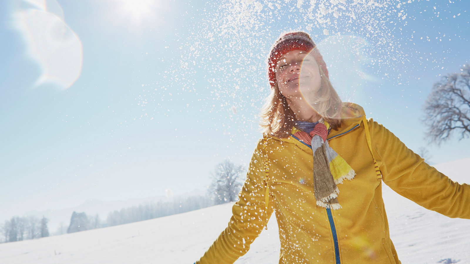 Snow blindness: sunburn in the eyes