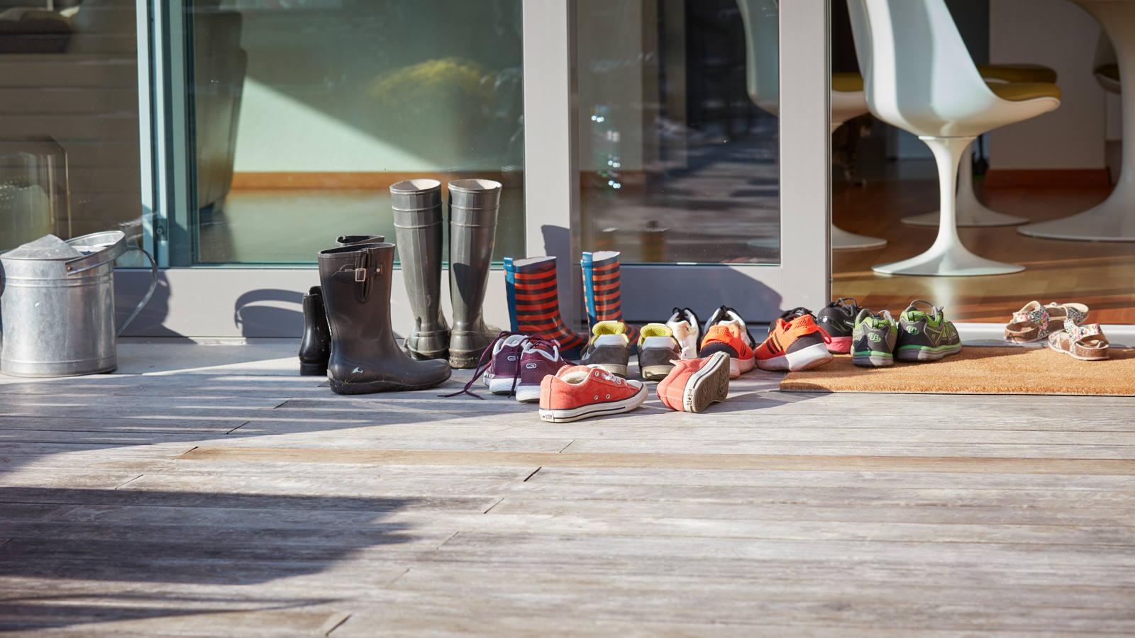 Schuhe einer Familie