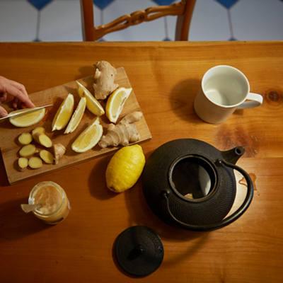 Zitronen & Ingwer Tee Zubereitung